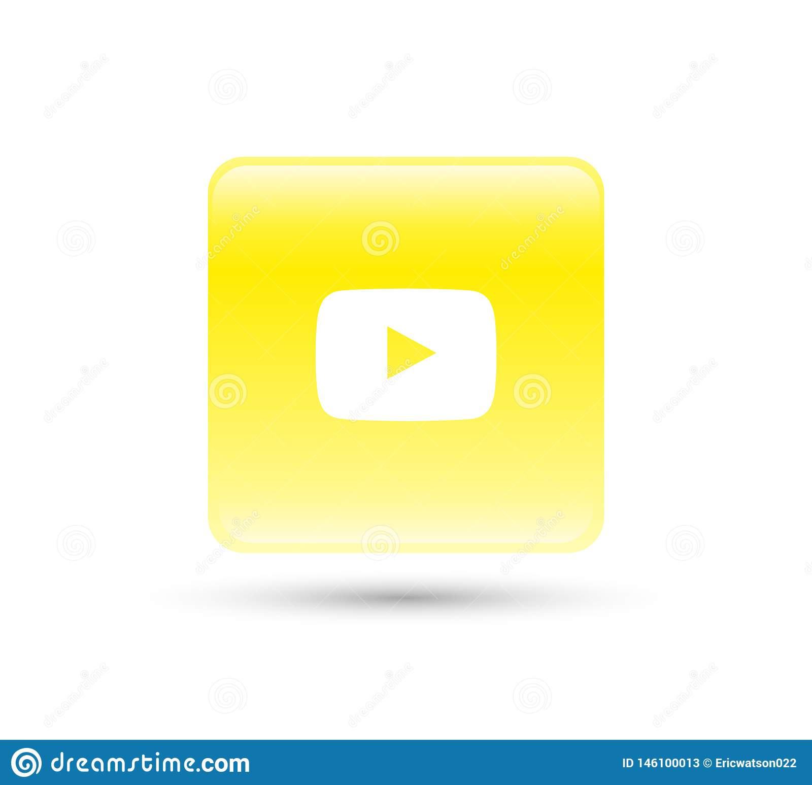 YouTube Logo Icon Vector With Yellow Gradient Design