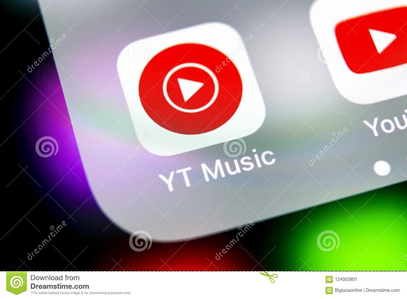 YouTube Music Application Icon On Apple IPhone X Smartphone Screen