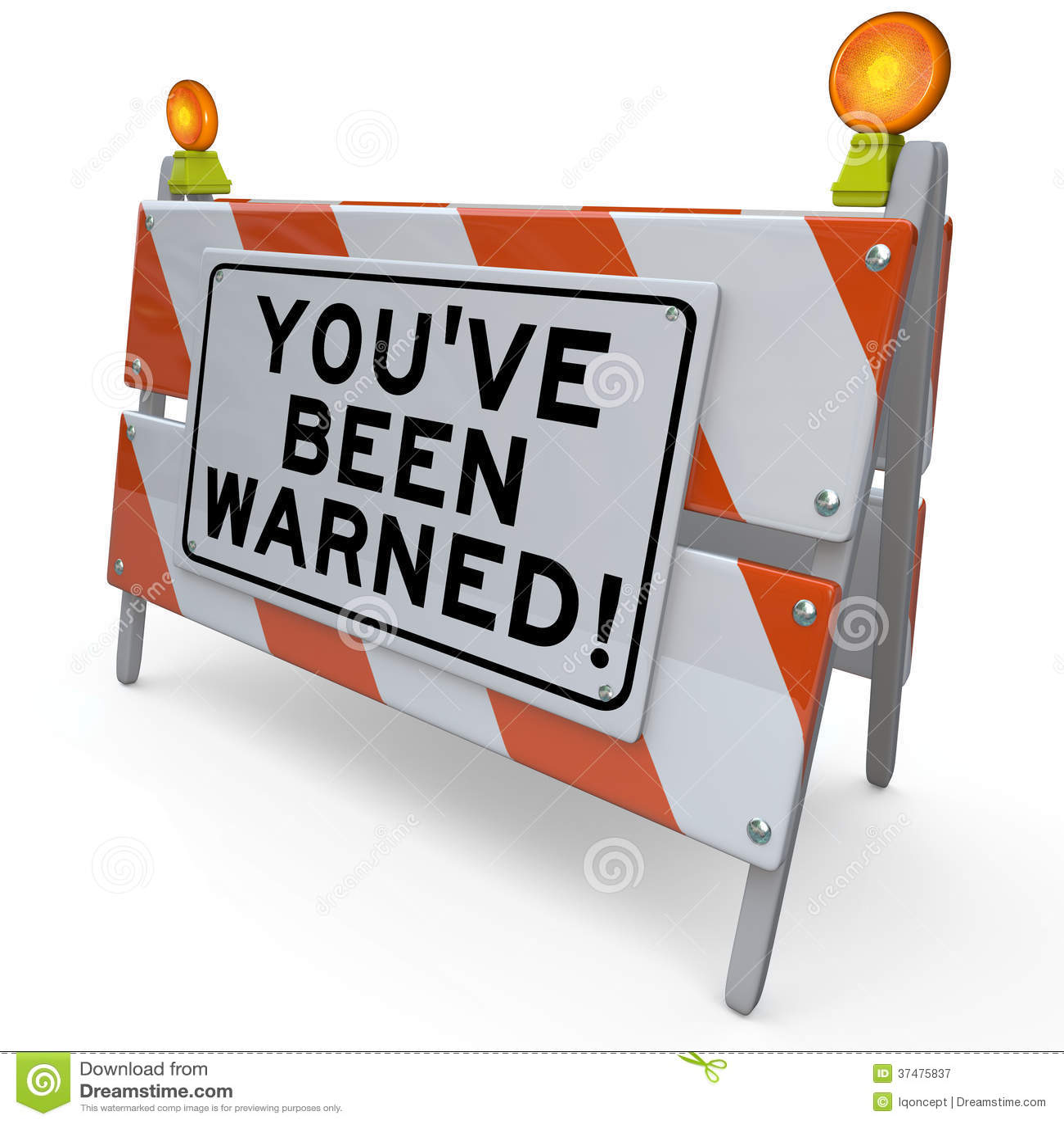 Youve Been Warned Road Construction Sign Danger Warning ...