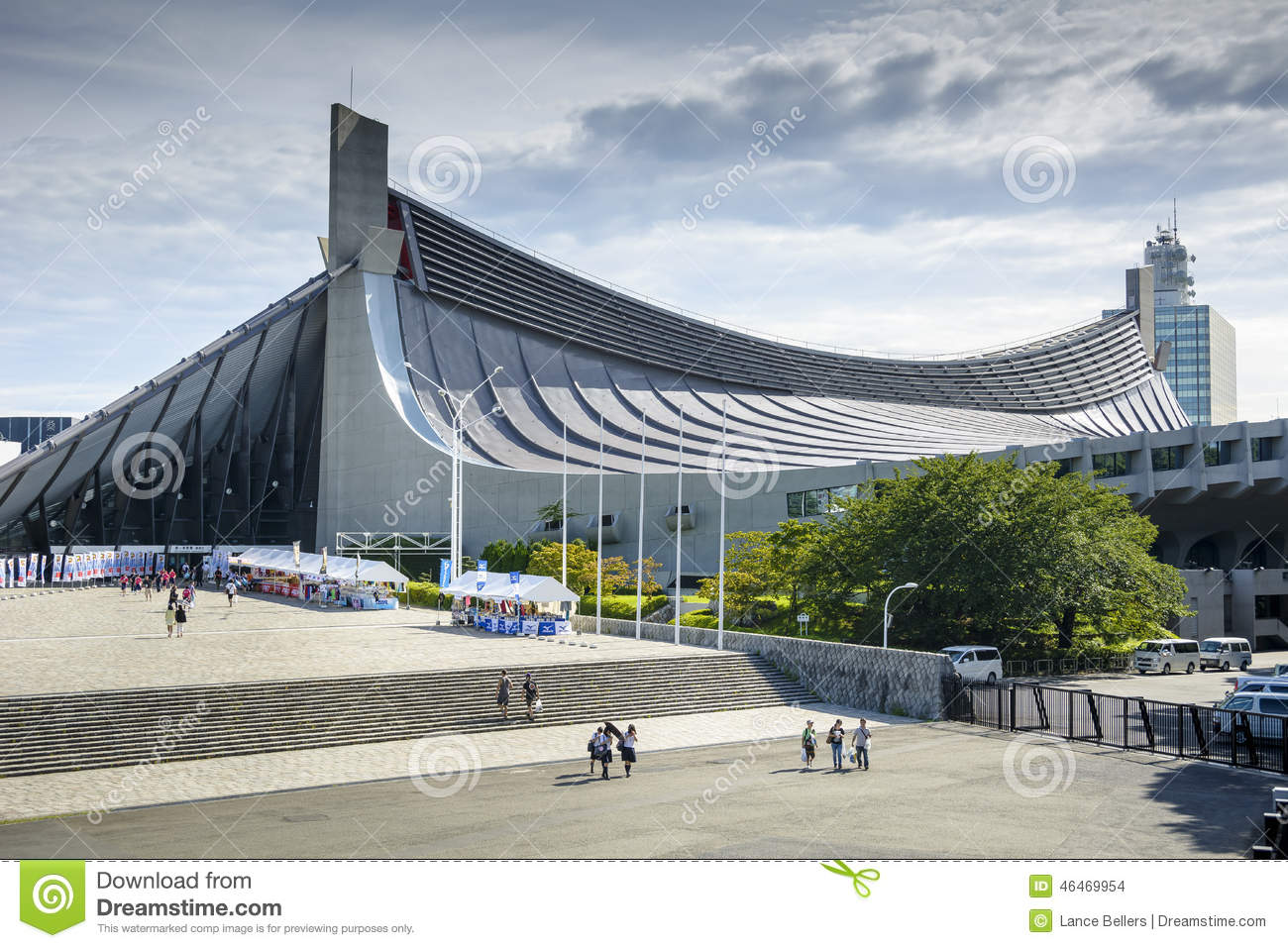 Yoyogi national gymnasium editorial stock image image of for Schule design