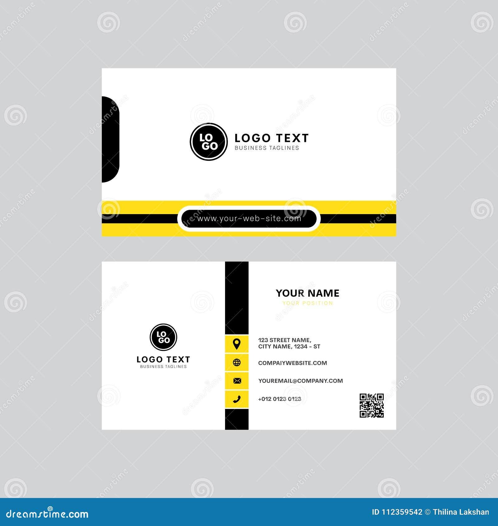 Yrkesmässig modern guling och svart färgar design för kort för inbjudan för affärskort