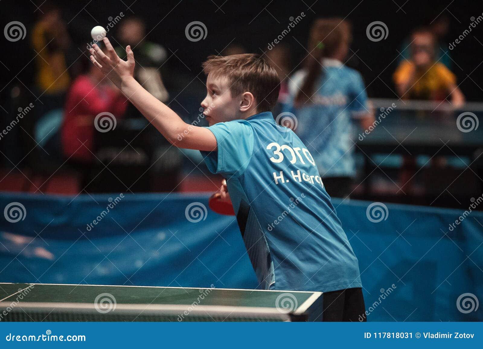 Yrkesmässig pojke för barn för bordtennisspelare junior Mästerskapturnering