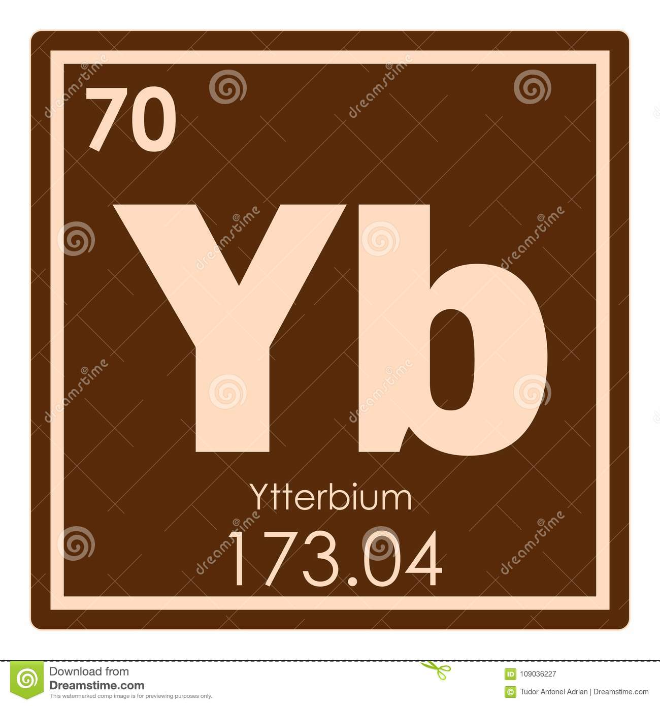 Ytterbium chemical element stock illustration illustration of download ytterbium chemical element stock illustration illustration of periodic 109036227 urtaz Images
