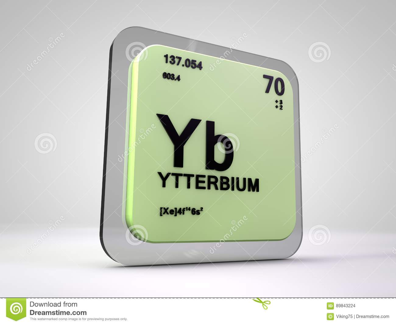 Ytterbium yb chemical element periodic table stock illustration download comp urtaz Gallery