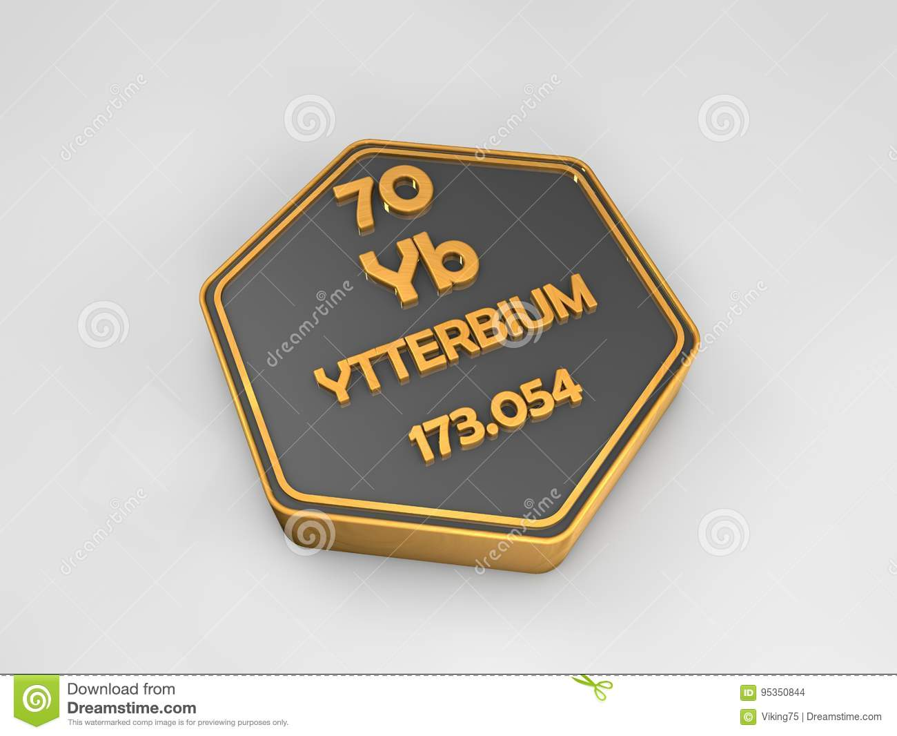 Ytterbium yb chemical element periodic table hexagonal shape ytterbium yb chemical element periodic table hexagonal shape urtaz Gallery