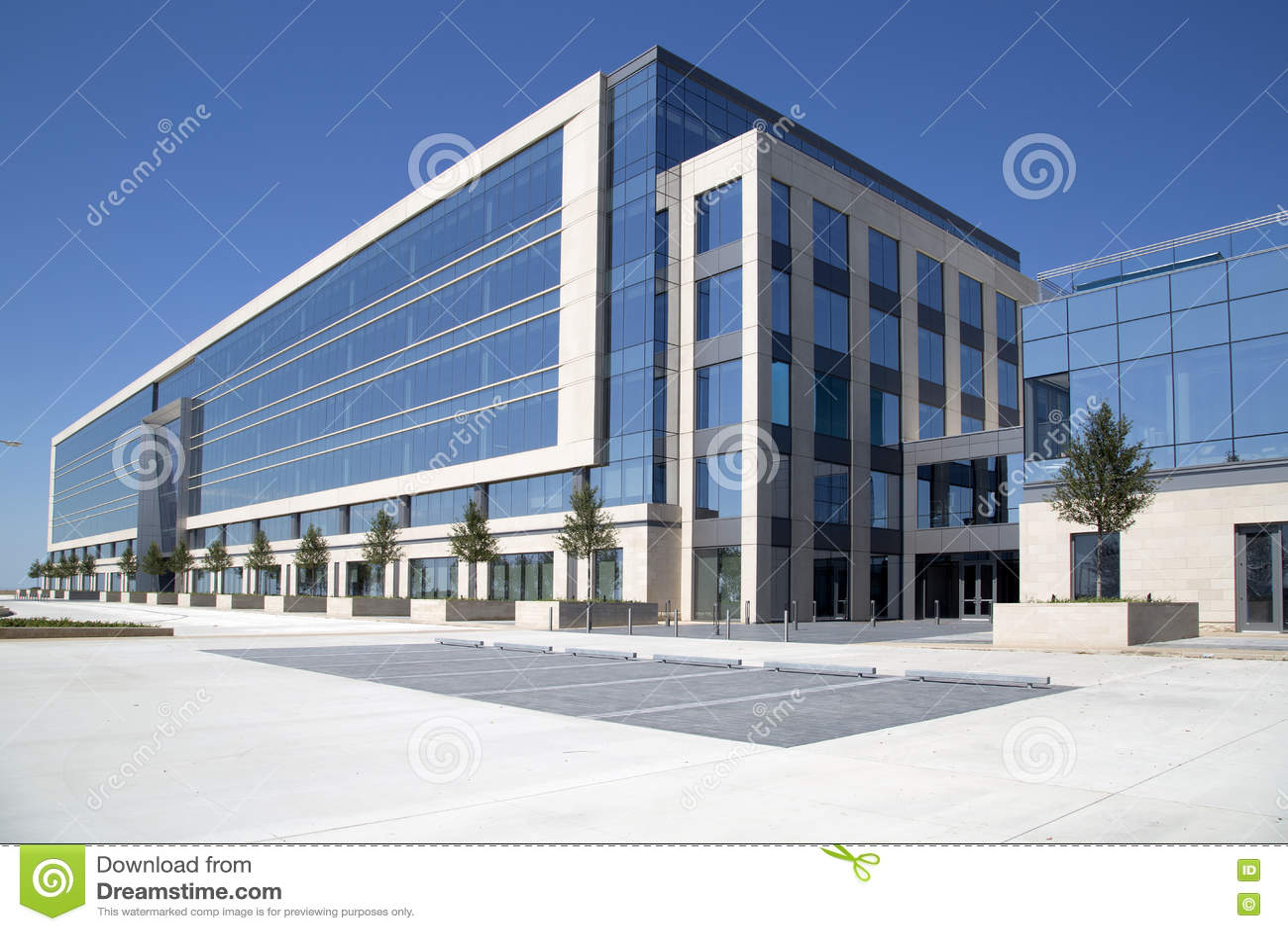 Yttersida av cowboyhögkvarterkontorsbyggnad
