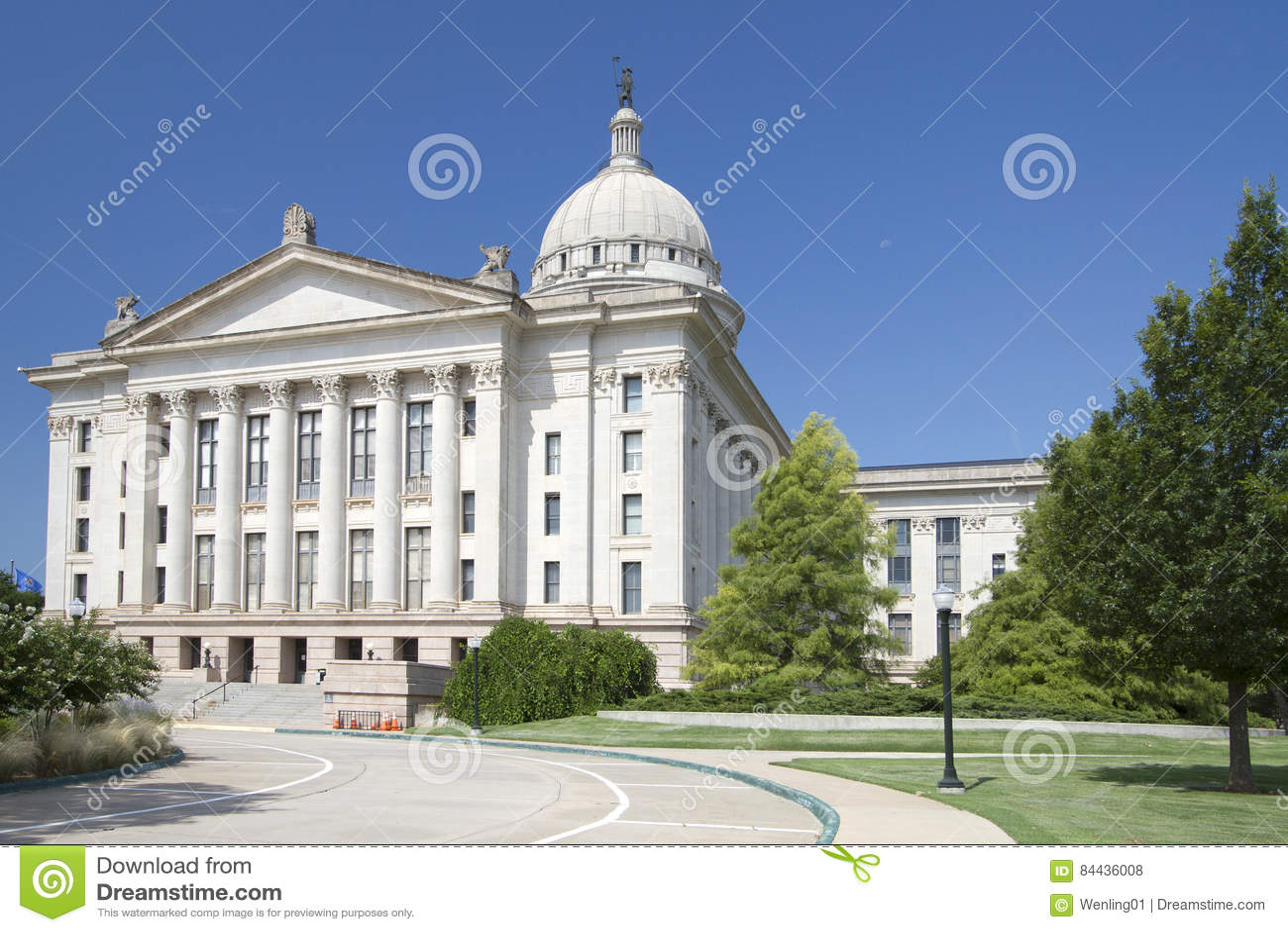 Yttersida av den Oklahoma tillståndscapitolen USA