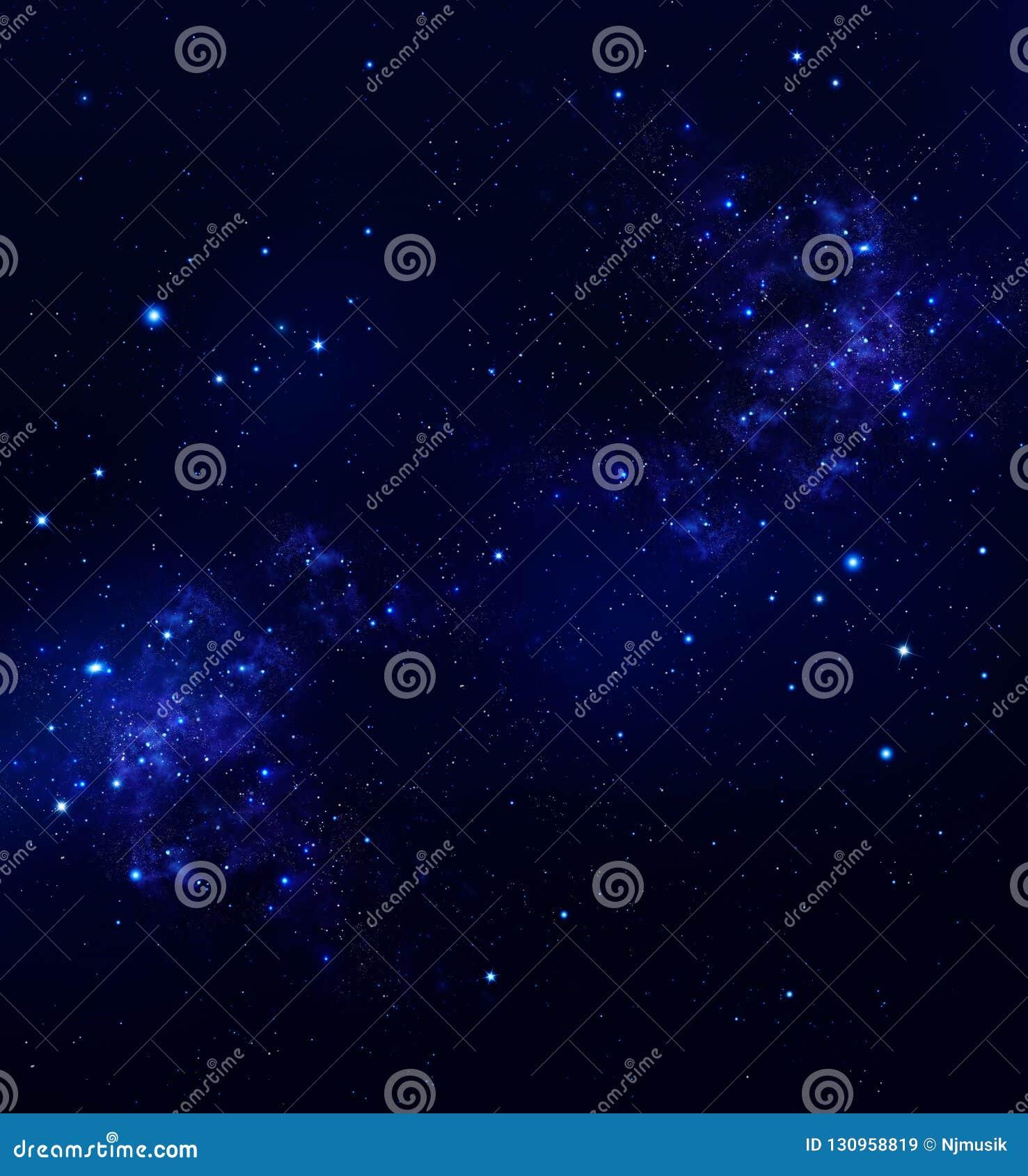 Yttre rymd för himmel för stjärnklar natt djup