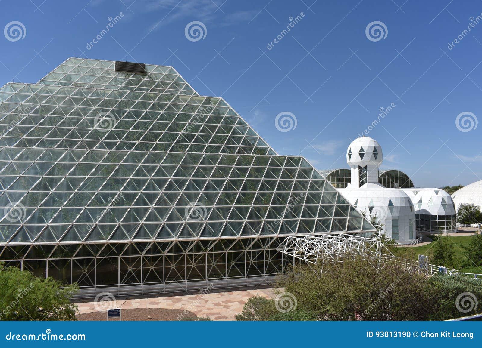 Yttre sikt av biosfären 2