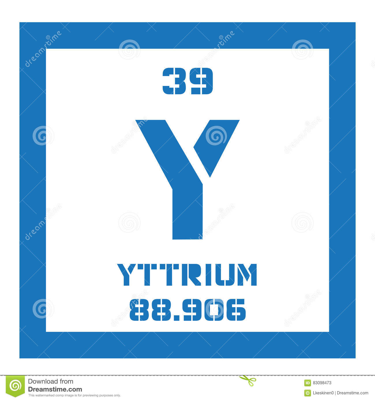 Yttrium Chemical Element Stock Vector Illustration Of Science
