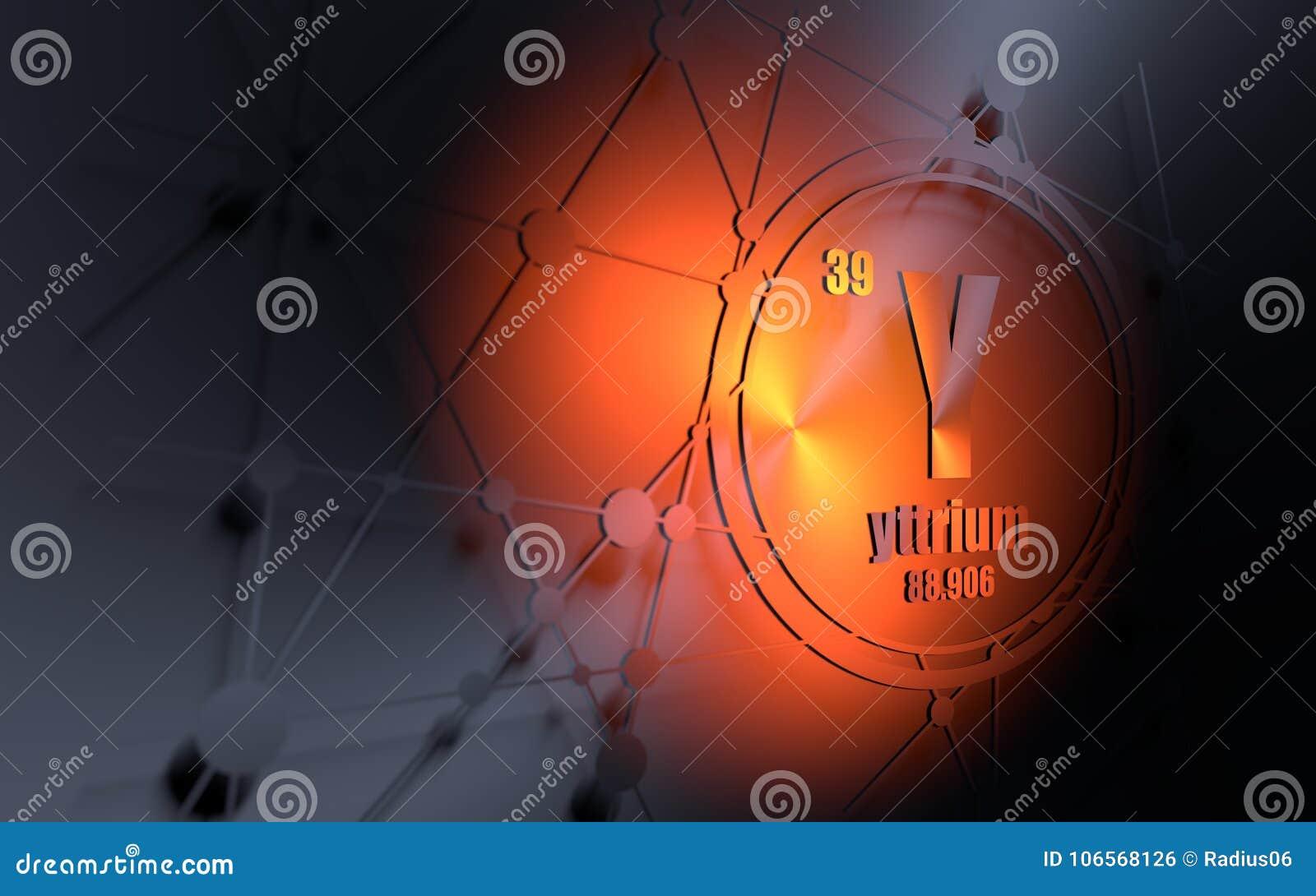 Yttrium Chemical Element Stock Illustration Illustration Of