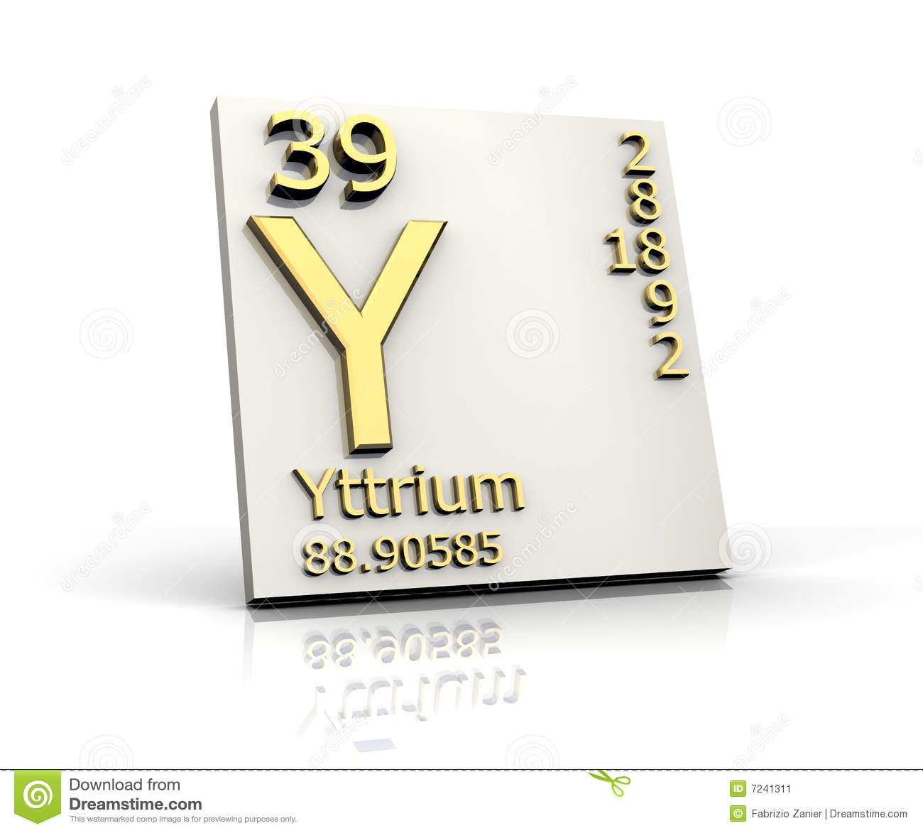 Yttrium Form Periodic Table Of Elements Stock Image ...