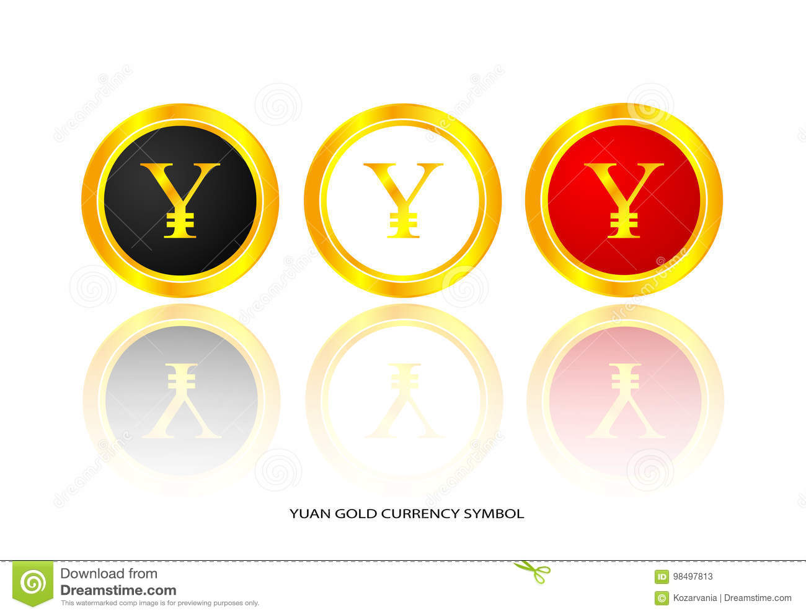 Yuan gold symbol stock vector illustration of china 98497813 yuan gold symbol biocorpaavc Image collections