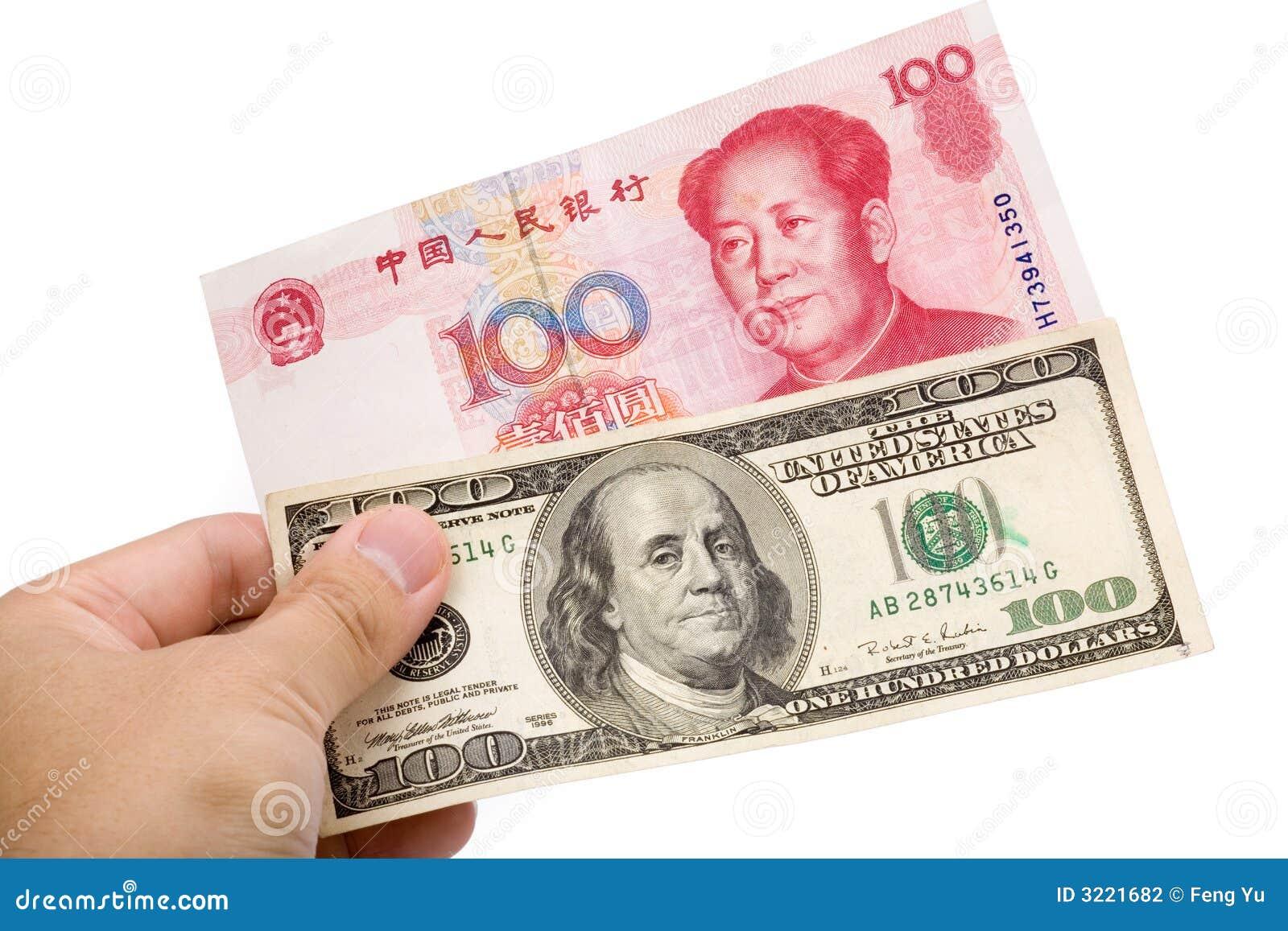 Yuan y dólar chinos