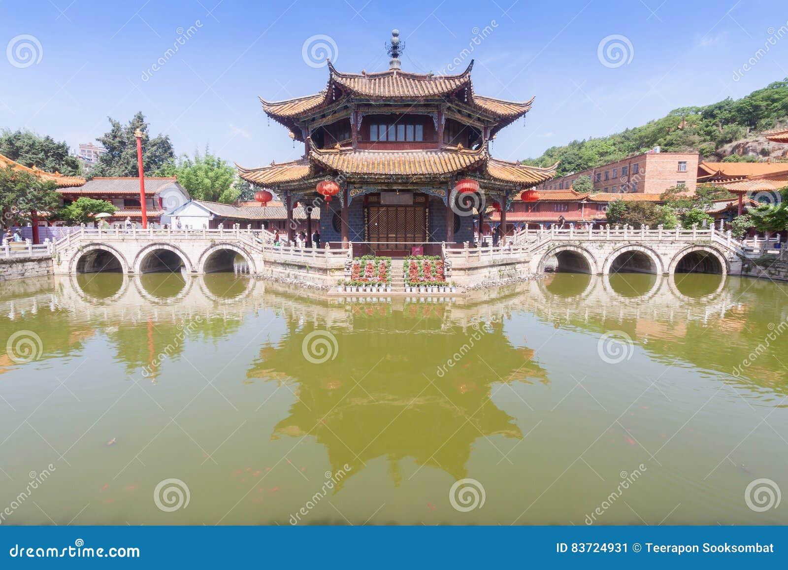 Yuantong Kunming Temple Stock Photo