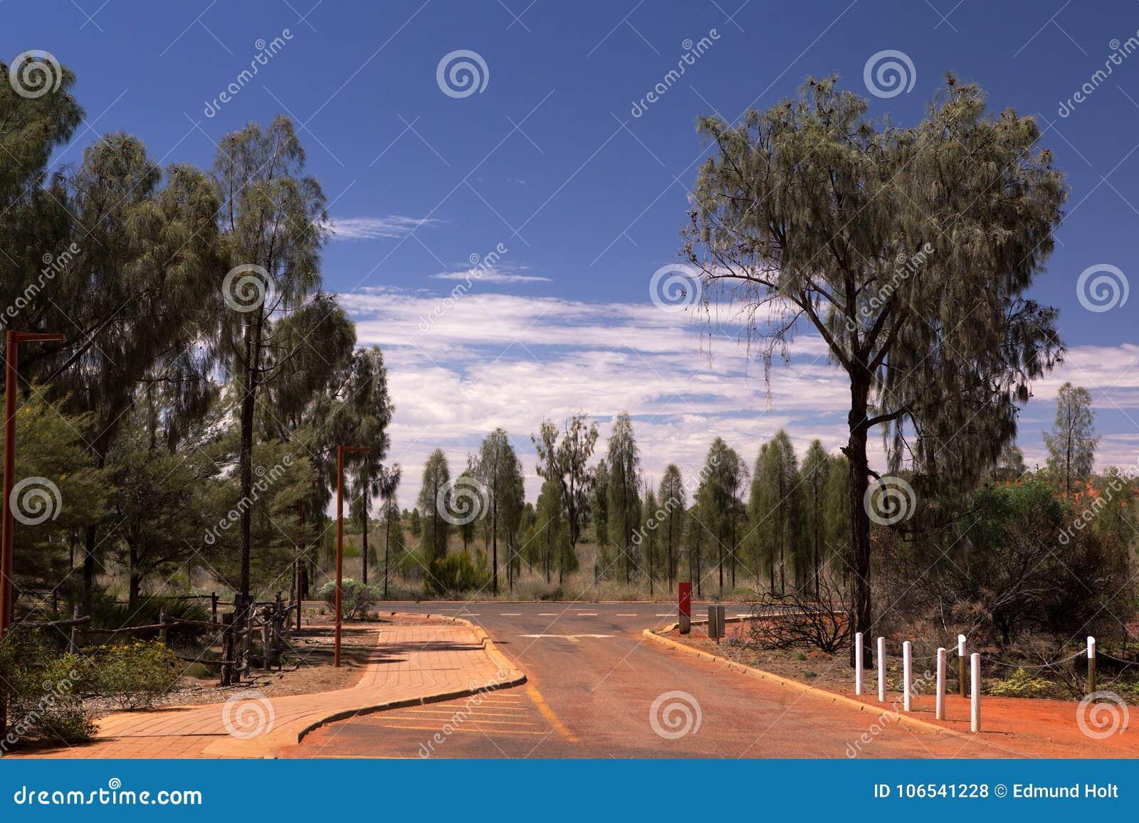 Yulara Drive Ayers Rock Stock Photo Image Of Northern