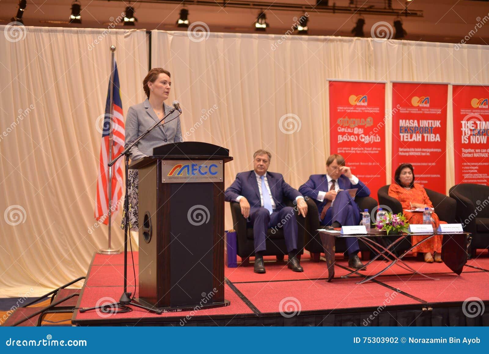 Yulia Kovaliv första ställföreträdande Minister av ekonomisk utveckling och handel Ukraina