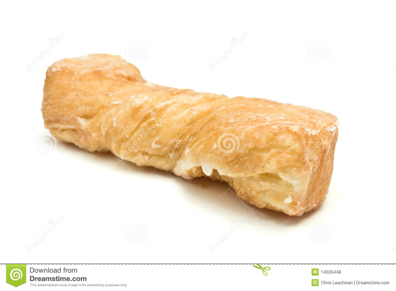 Yum Yum sugar coated Pastry isolated against white background.