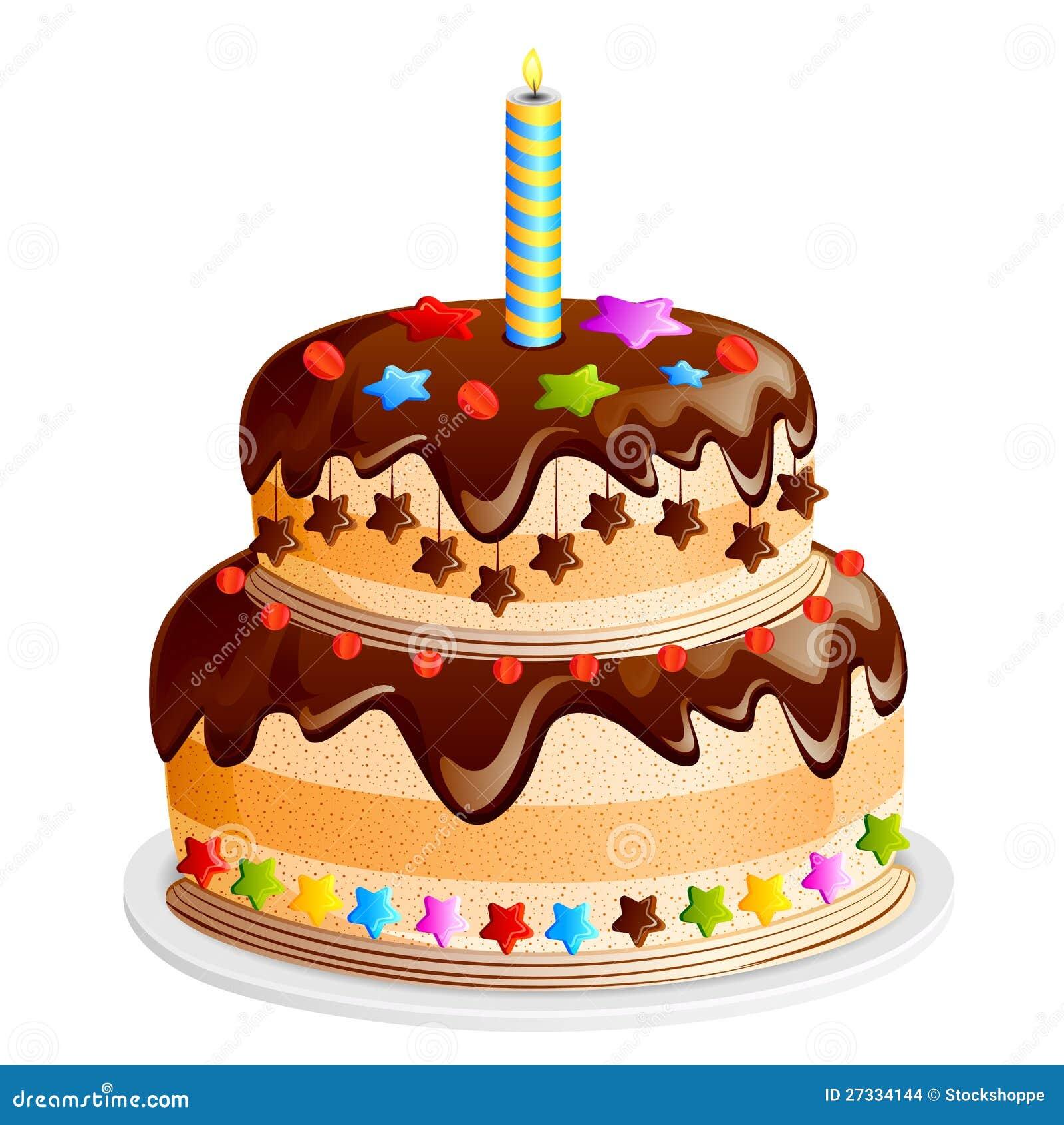 Yummy Chocolate Birthday Cake