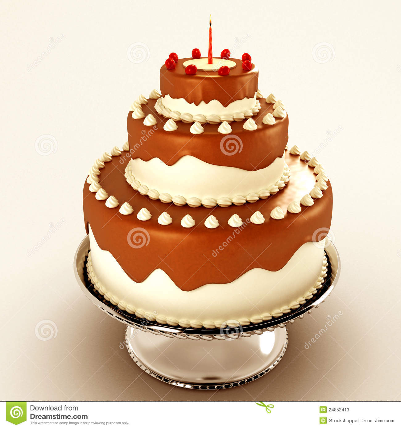 Yummy Chocolate Cake Stock Photos Image 24852413