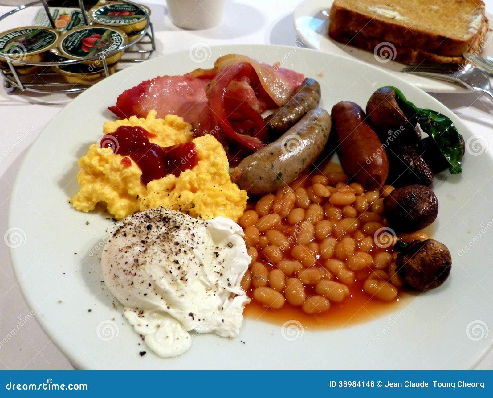 Yummy full english breakfast in australia stock photo for Authentic australian cuisine