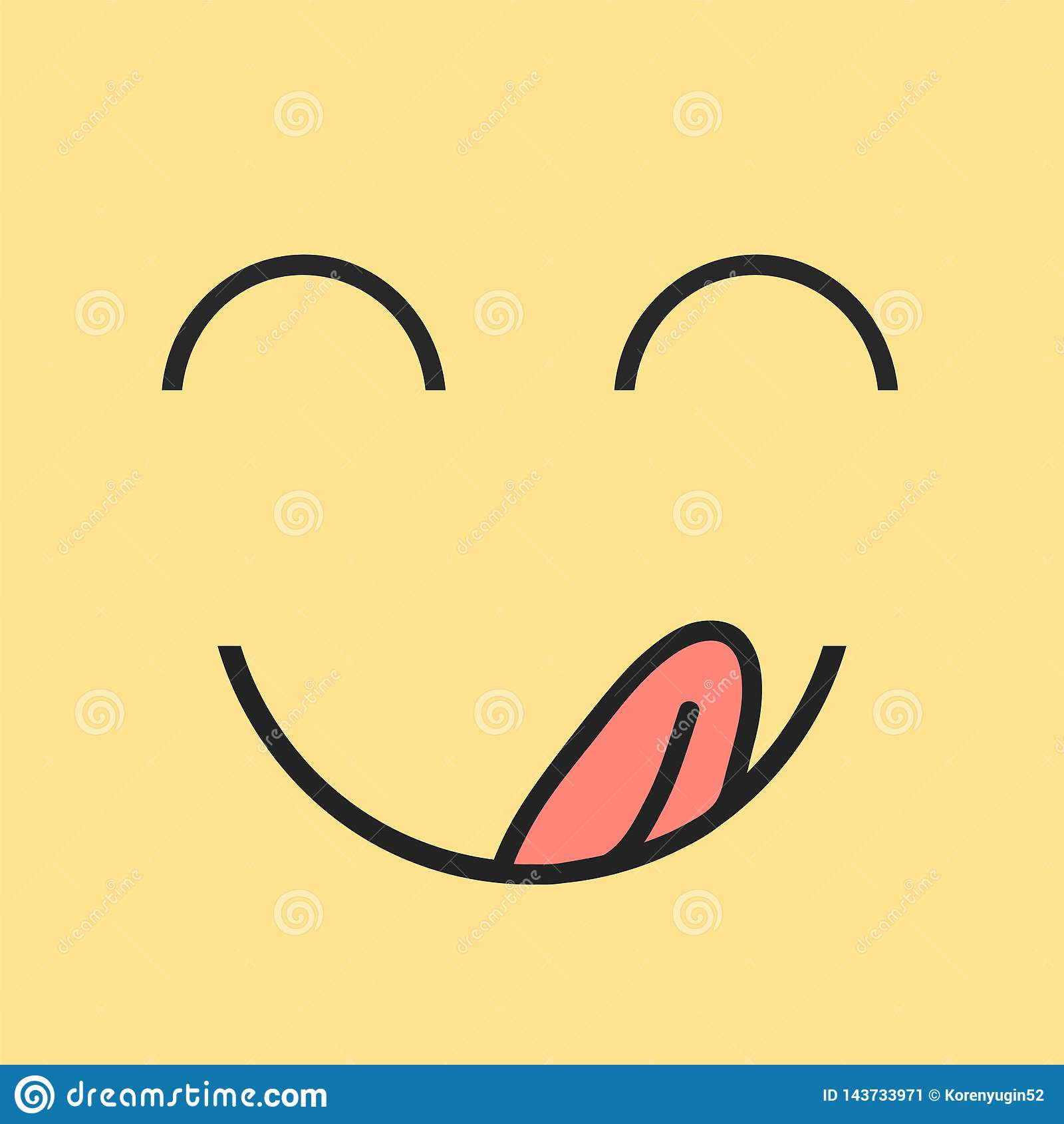 Yummy Smile Delicious Tasty Eating Emoji Face Eat With Mouth And