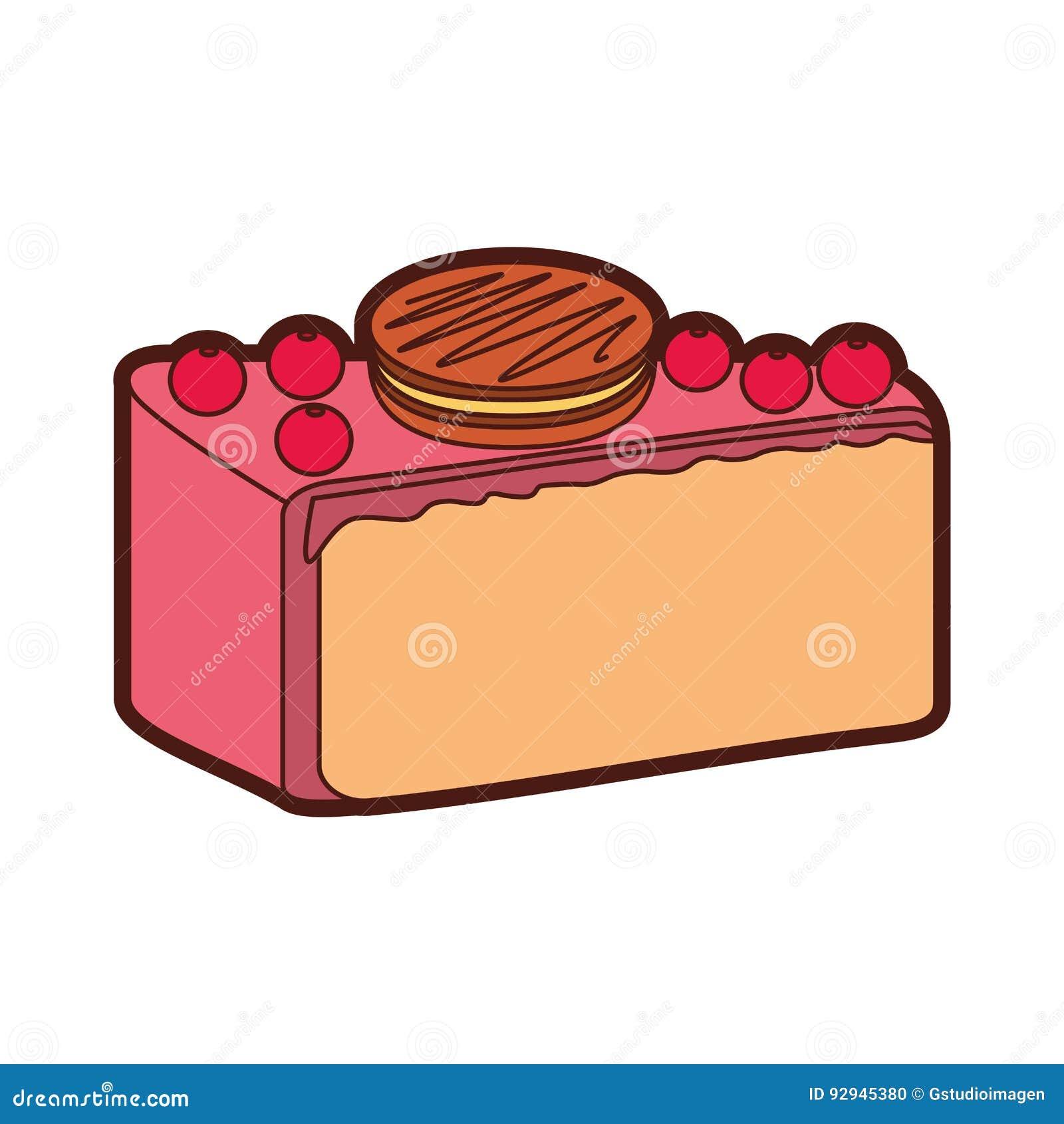 30c5c63d0d3a Yummy Sweet Cake Slide Piece Stock Vector - Illustration of design ...