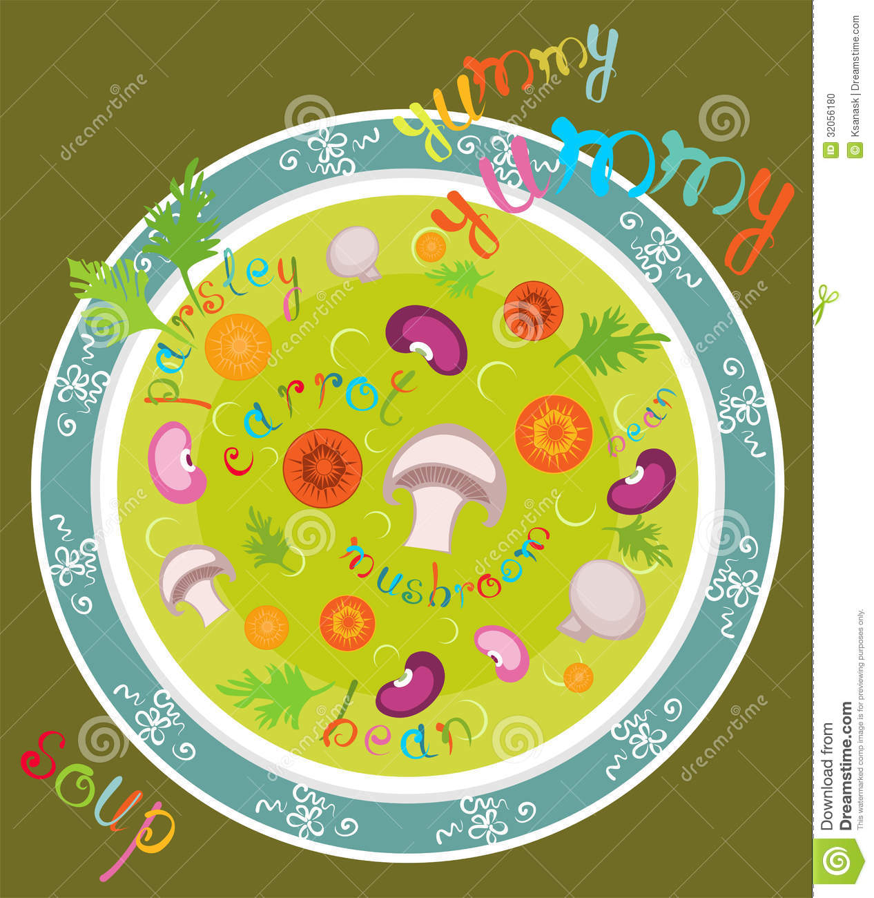 Yummy Yummy Soup Stock Vector. Illustration Of Healthy