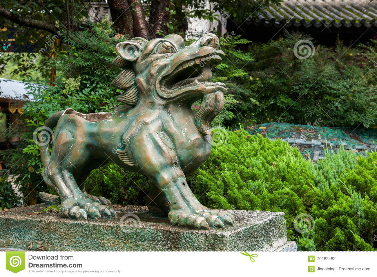 Yunnan Dali Dragon City Bronze Lion