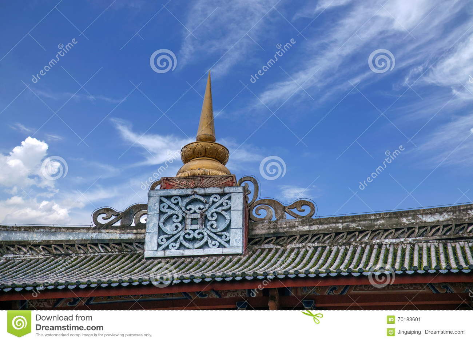 Yunnan Dali Dragon City Västra-stil byggnad