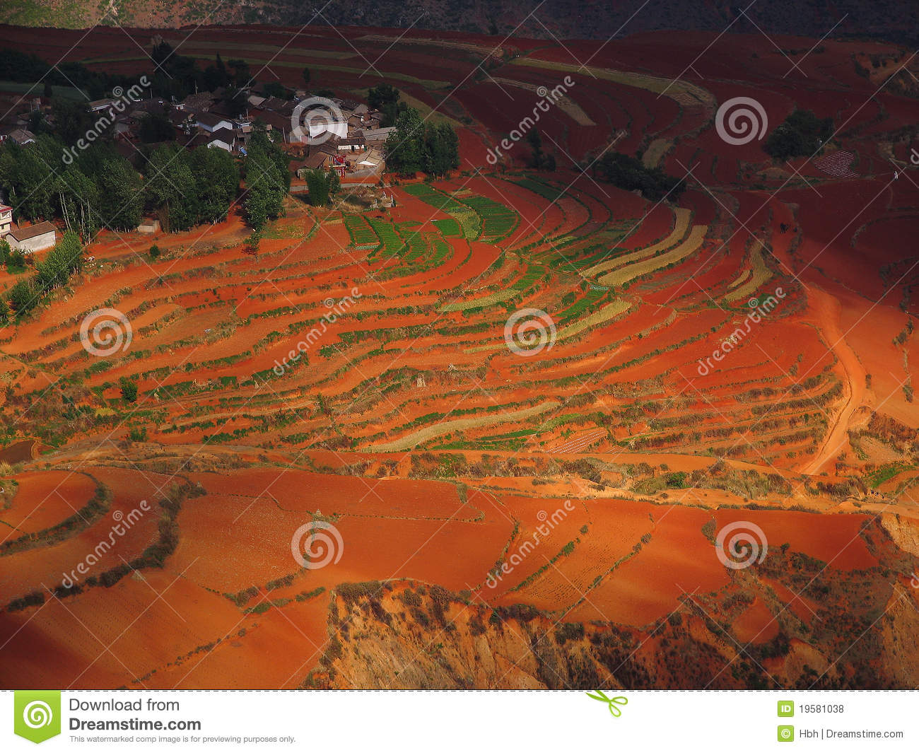 Yunnan red soil dry royalty free stock photos image for What soil contains