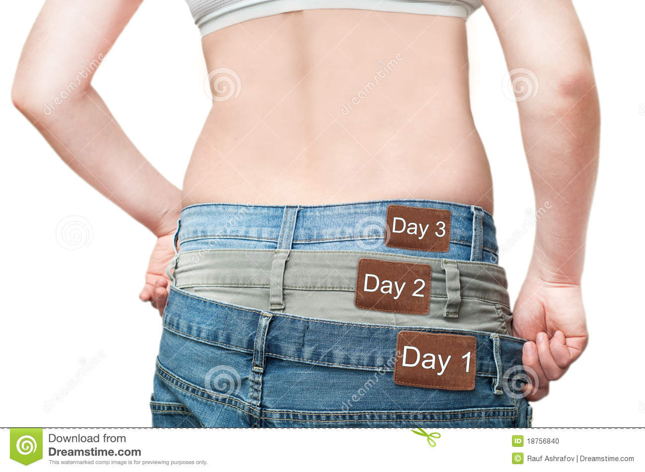 yuong woman monitoring weight loss stock photo image of healthcare