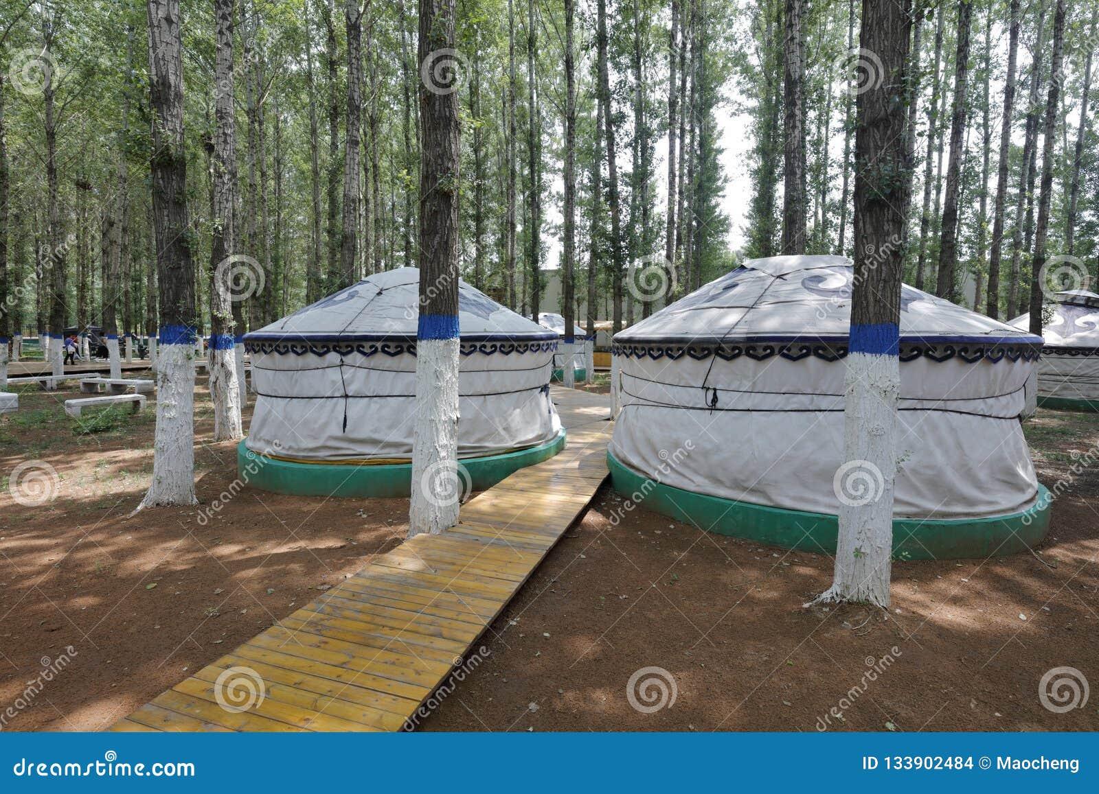 Yurt στο khan μαυσωλείο genghis, πλίθα rgb