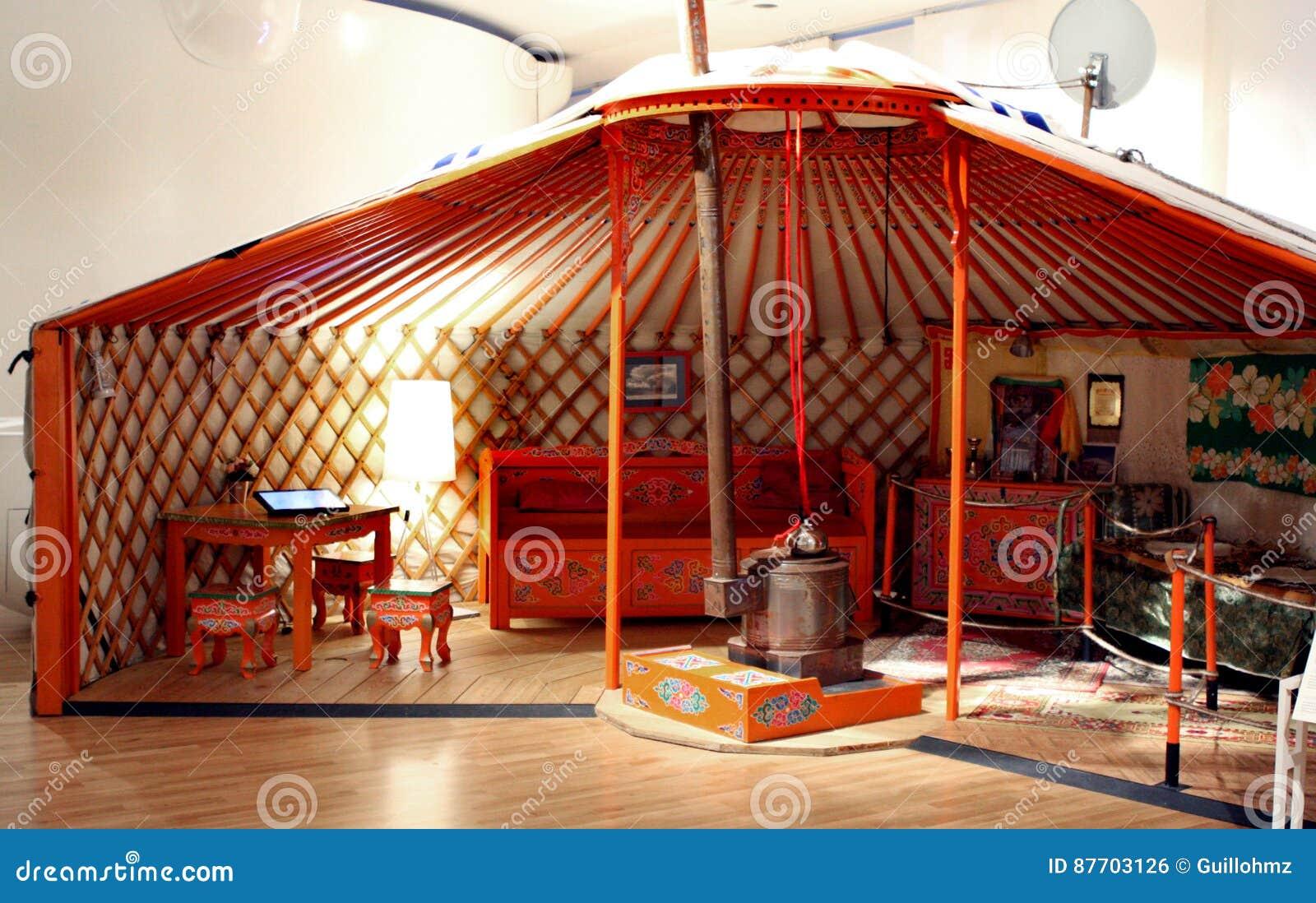 Yurt tibétain au musée Paris