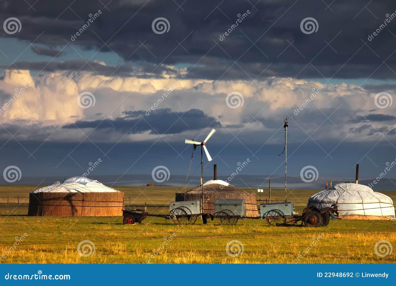 Yurts sur la prairie