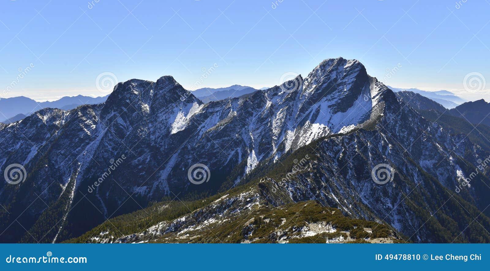 Yushan park narodowy Mt jady magistrala szczyt i wschodu szczyt