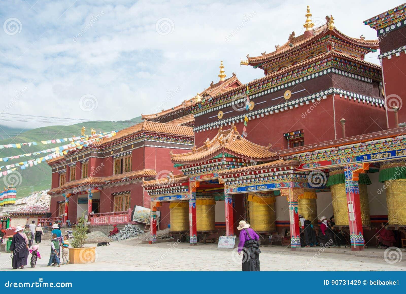 YUSHU(JYEKUNDO), CHINA - Jul 13 2014: Mani Temple(Mani Shicheng). a famous landmark in the Tibetan city of Yushu, Qinghai, China.