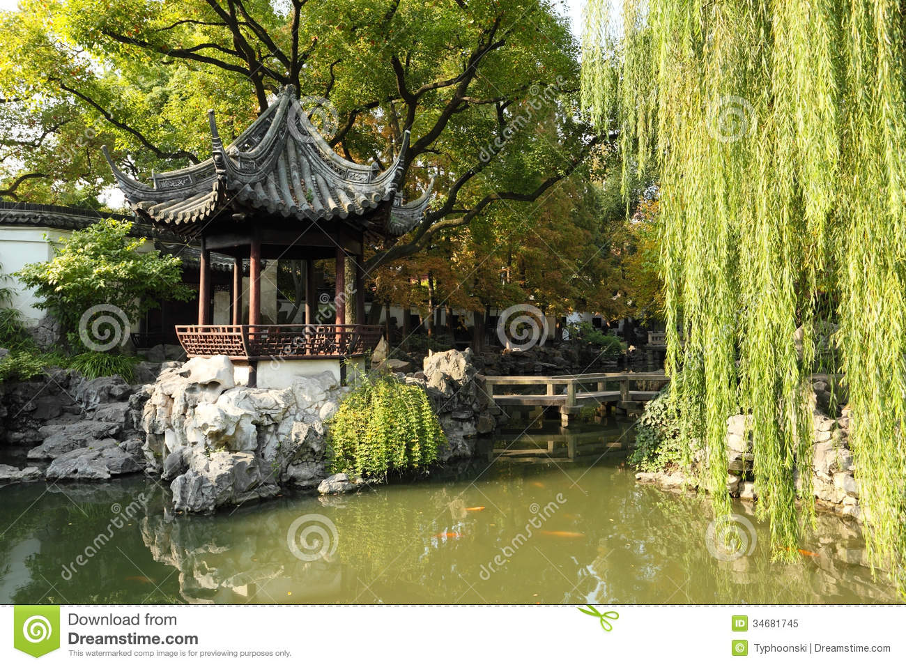 Yuyuan Garden In Shanghai Royalty Free Stock Photo - Image ...