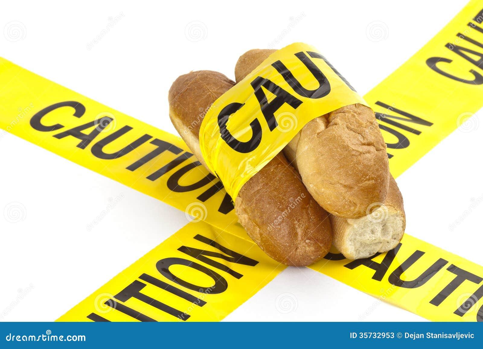 Żywienioniowy ostrzeżenie, gluten lub pszeniczny alergii ostrzeżenie/