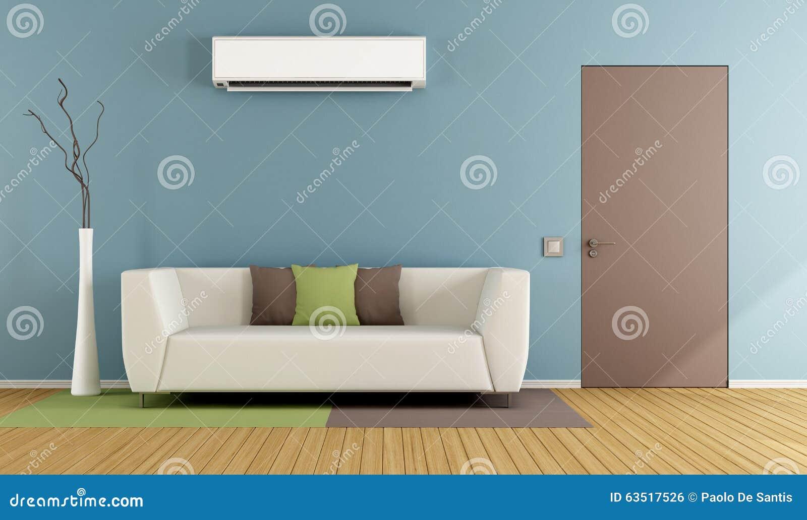 Żywy pokój z lotniczym conditioner