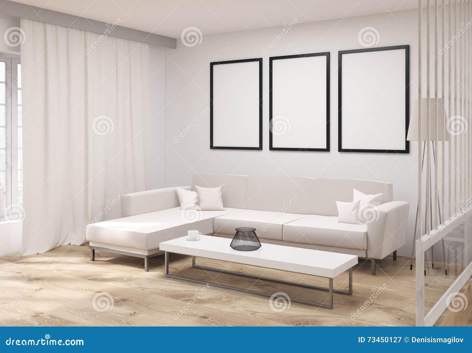Żywy pokój z ramy stroną