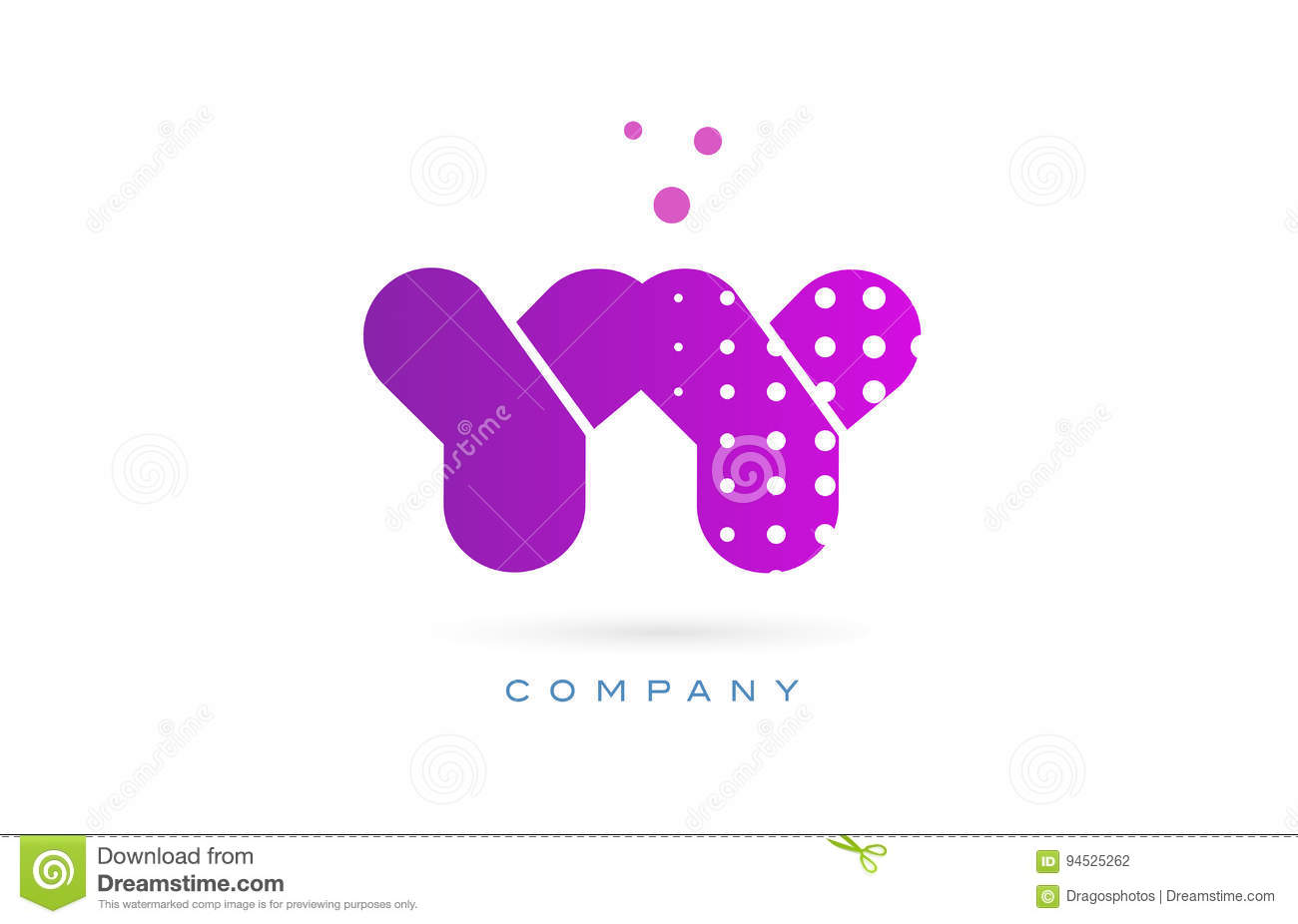 yy y pink dots dotted letter logo alphabet creative company vector icon  design template 56615078a63a