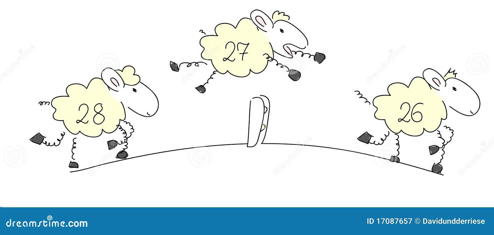 Zählung der Schafe.