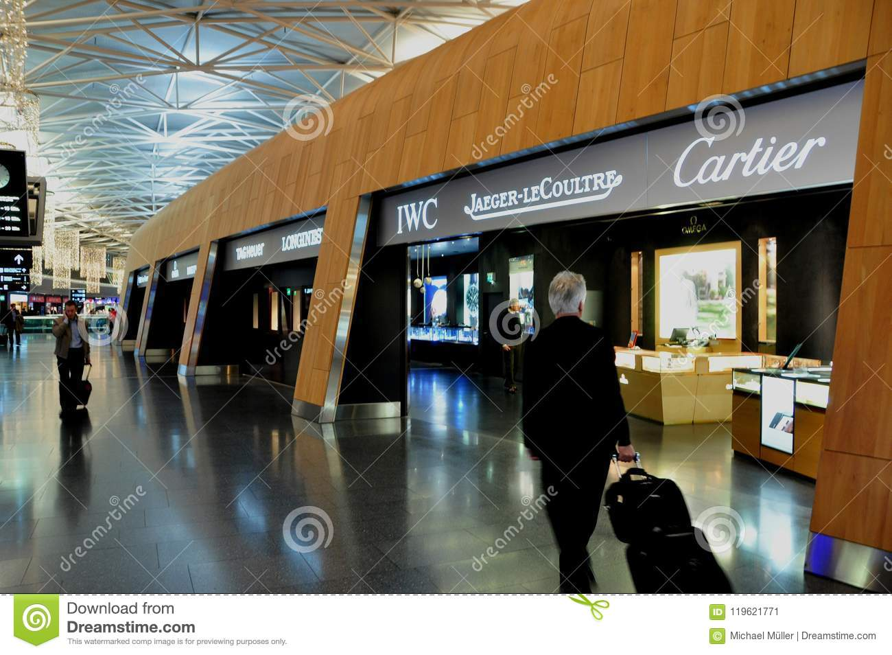 Zurich Airport Duty Free Shopping Jewelery Swiss Watches And