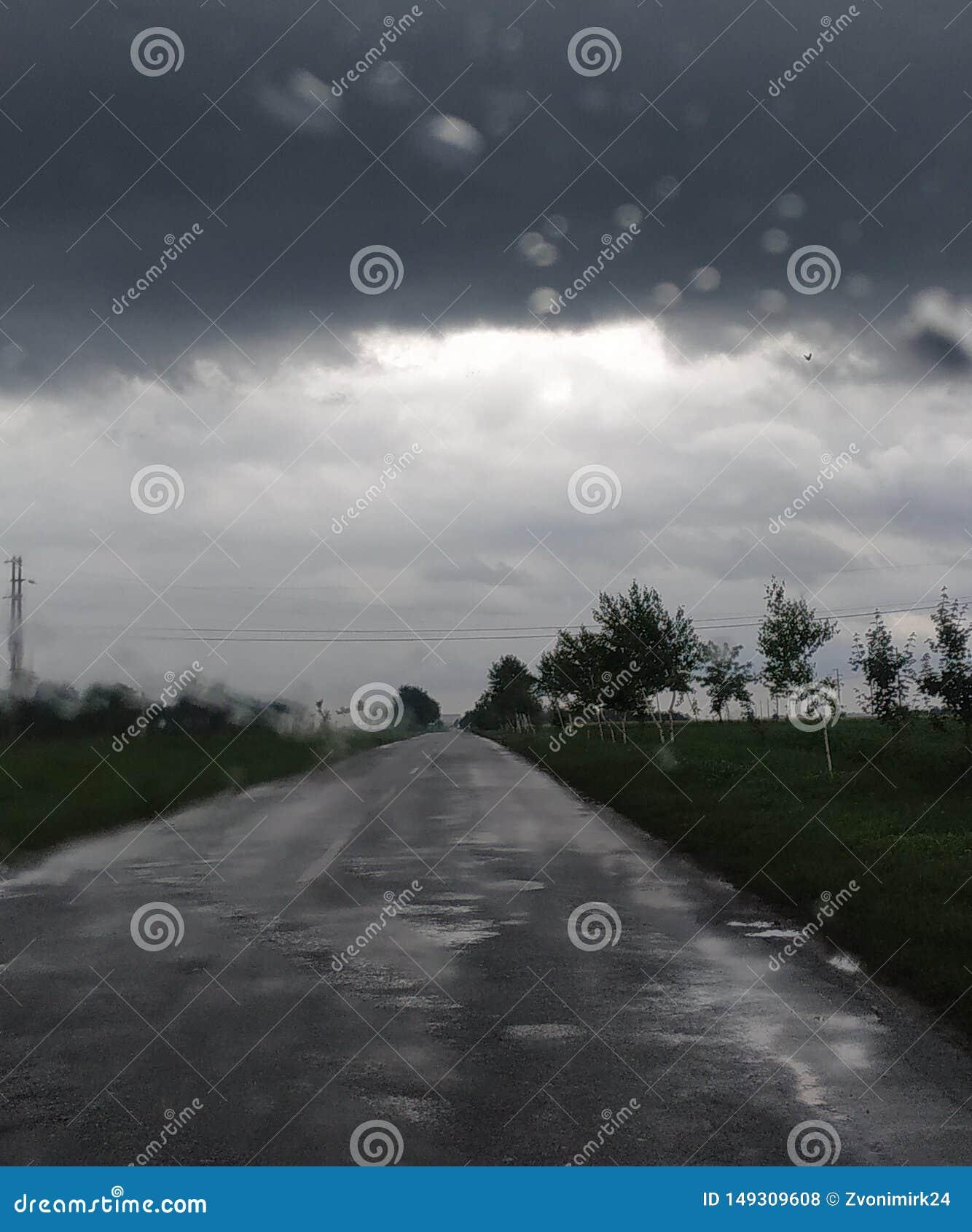 Zła pogoda kiedykolwiek ci??kie chmury