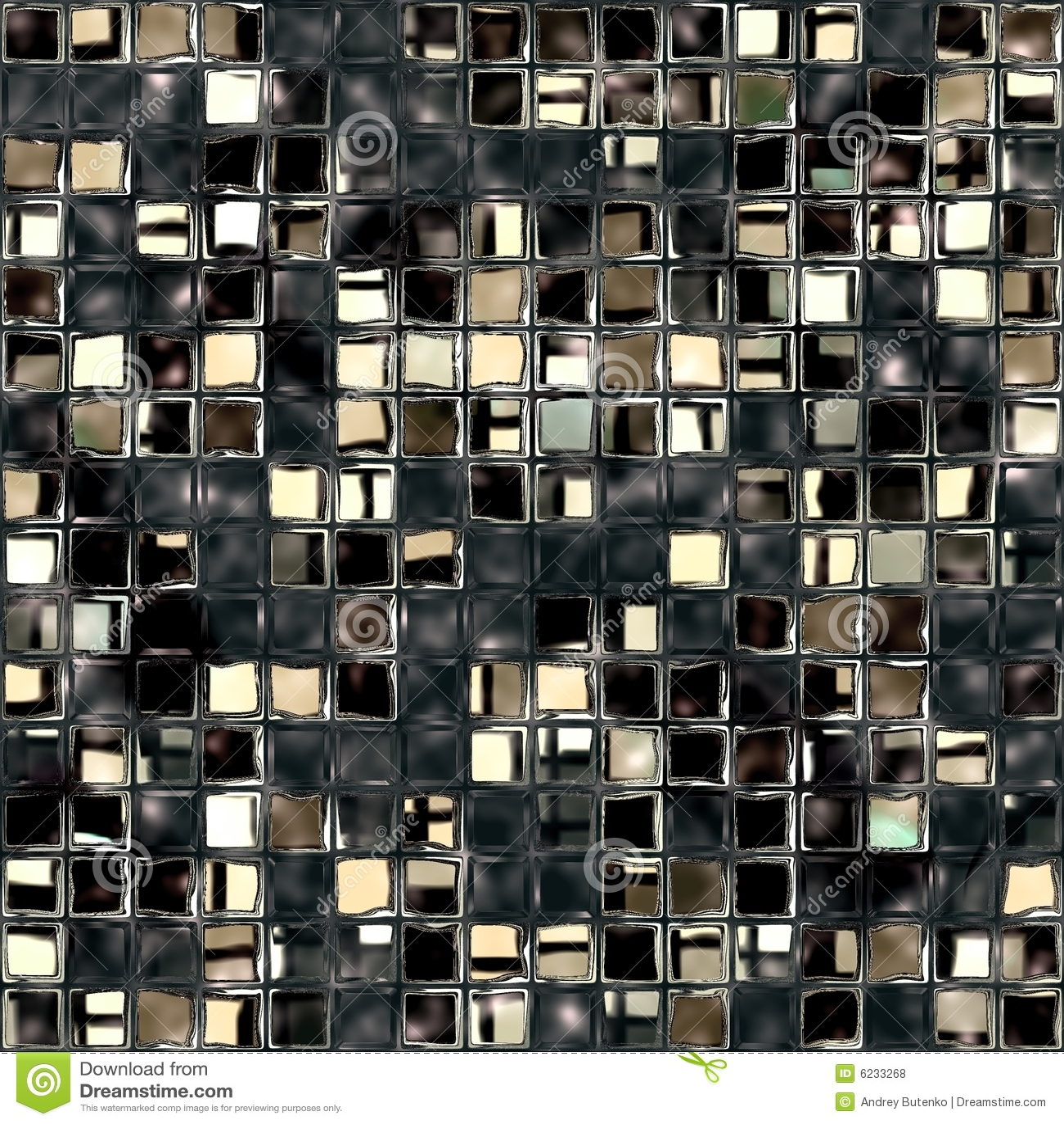 Złamana mozaika szklana