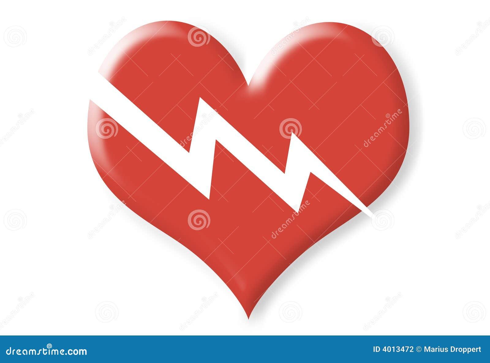 Złamana wymiarowa czerwony dwa serca