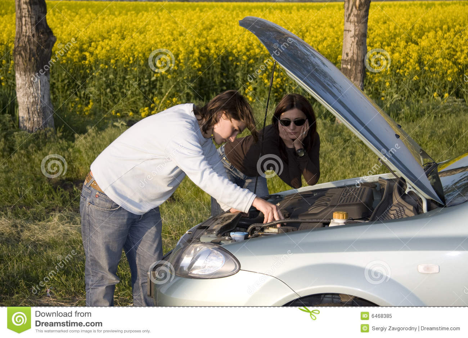 Złamany silnika