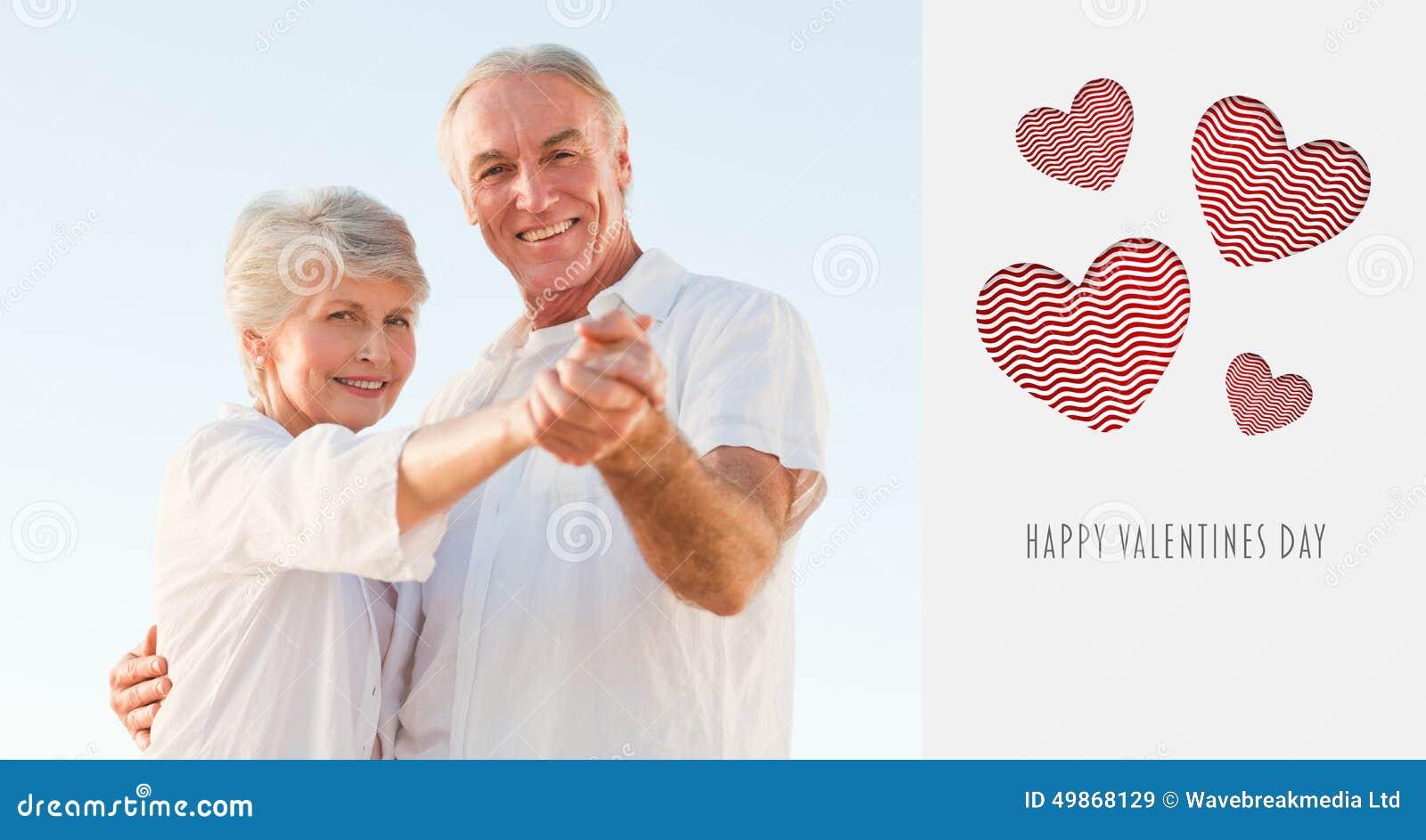 Złożony wizerunek śliczna valentines para