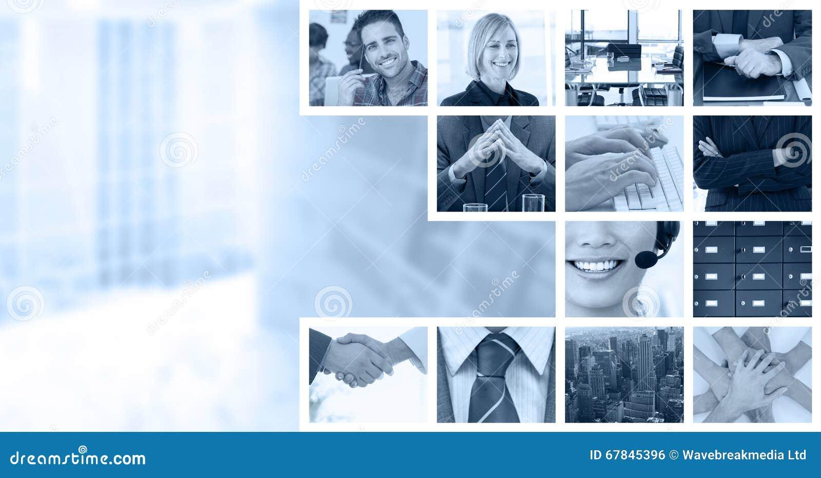 Złożony wizerunek chwianie ręki nad oko dzienniczkiem po biznesowego spotkania i szkłami